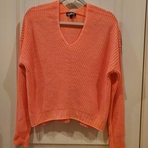 Freshman 1996 Coral Hi/Low Lightweight Sweater